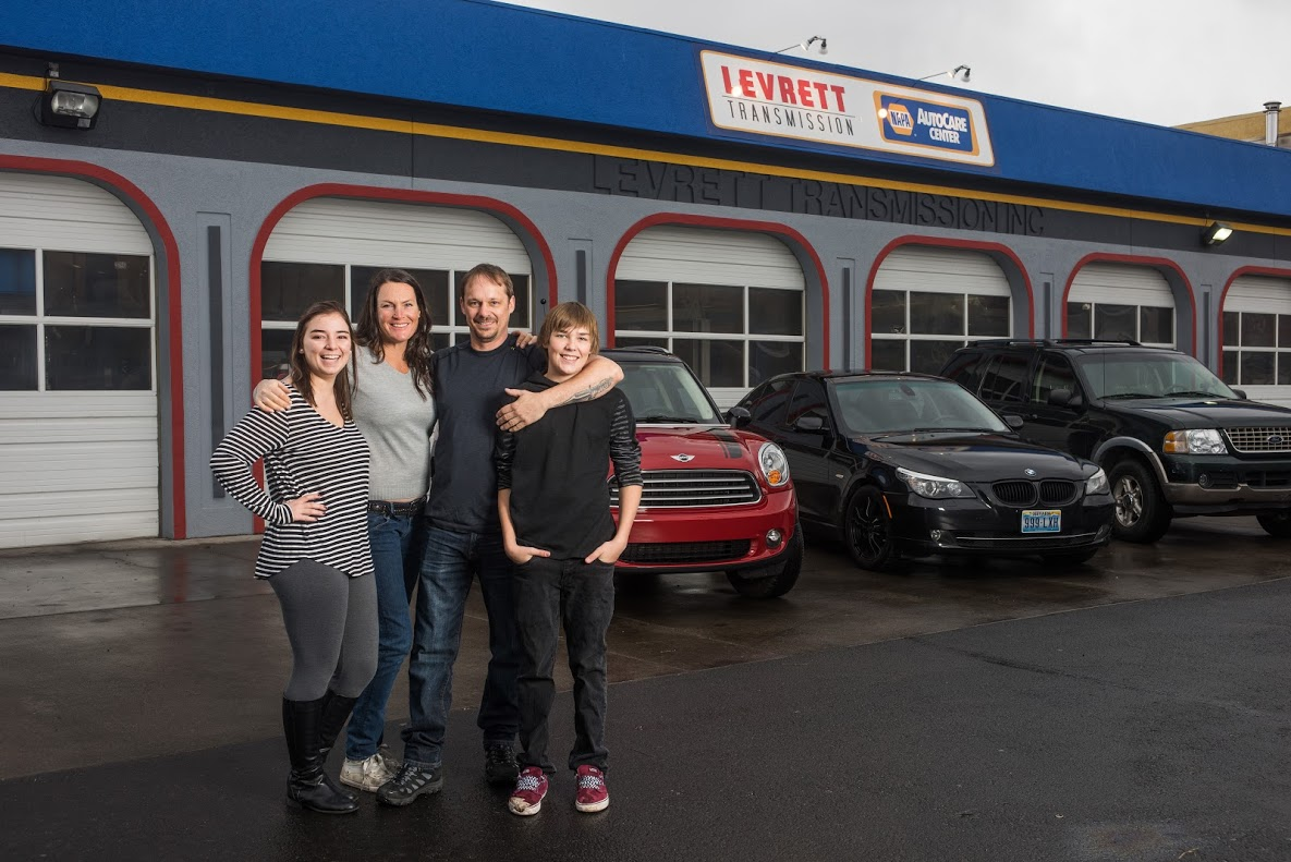 Auto Repair Shop Family Photo